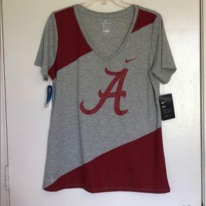 NWT University of Alabama V-Neck T-shirt